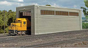 Bachmann Single Stall Shed Kit HO Scale Model Railroad Building #35115