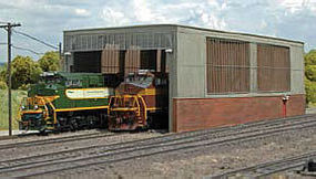 Bachmann Double Stall Shed Kit HO Scale Model Railroad Building #35116