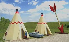 Teepee Hotel HO Scale Model Railroad Building #35205