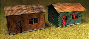 Bachmann Laser-Cut Cottage Kit (2) HO Scale Model Railroad Building #39101