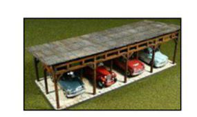 Bachmann Laser-Cut Car Shed Kit HO Scale Model Railroad Building #39102