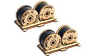 Bachmann Cable Drums (2) HO Scale Model Railroad Building Accessory #39108