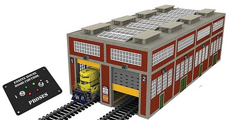 Bachmann Engine House w Motor Drs - O-Scale