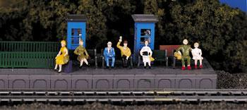 Bachmann Sitting Passengers -- HO Scale Model Railroad Figure -- #42342