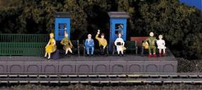 Bachmann Sitting Passengers HO Scale Model Railroad Figure #42342