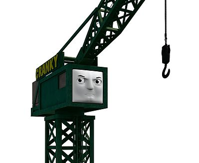 Bachmann Cranky The Crane -- HO Scale Thomas-the-Tank Electric Accessory -- #42444