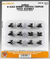 Bachmann Dummy Knuckle Coupler Track (12) N Scale Model Train Coupler #42533