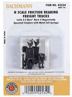 Bachmann Friction Bearing Freight Truck No Wheels (12pr) N Scale Model Train Truck #42534