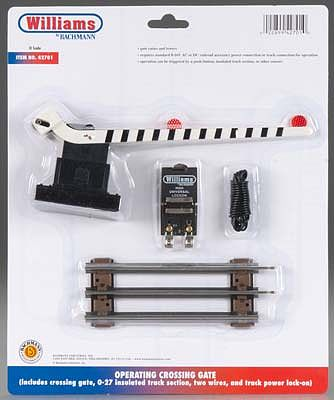 Bachmann Operating Crossing Gate -- O Scale Model Railroad Trackside Accessory -- #42701