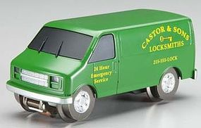 Bachmann E-Z Street Operating Van - Castor & Sons Locksmiths O Scale Model Railroad Vehicle #42723