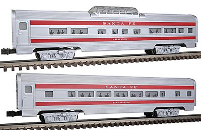 Bachmann Passenger Add-On - Santa Fe -- O Scale Model Train Passenger Car -- #43048