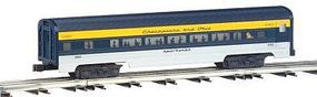 Bachmann 4-Car Passenger Set (60) - Chesapeake & Ohio O Scale Model Train Passenger Car #43061