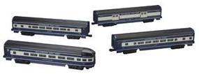 Bachmann 4-Car Passenger Set (60) - Baltimore & Ohio O Scale Model Train Passenger Car #43080