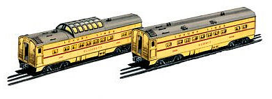 Bachmann O-27 Streamliner Passenger Add-On - Union Pacific -- O Scale Model Train Passenger Car -- #43247