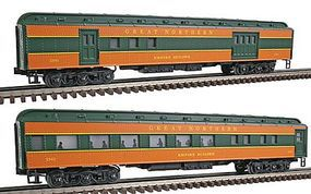 Bachmann 2-Car Passenger Add-On (72Scale) - Great Northern O Scale Model Train Passenger Car #43302