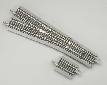 Bachmann E-Z Command N/S #5 Left Turnout HO Scale Nickel Silver Model Train Track #44132
