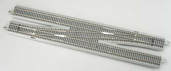 Bachmann E-Z Command #6 Single Crossover Left Turnout HO Scale Nickel Silver Model Train Track #44137