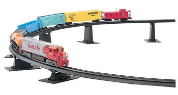 Bachmann Pier Set E-Z Track -- HO Scale Model Railroad Bridge -- #44471