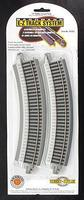 Bachmann 15 Radius Curve N/S (4) HO Scale Nickel Silver Model Train Track #44505