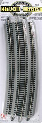 Bachmann 35.5 Radius Curve N/S E-Z HO Scale Nickel Silver Model Train Track #44507