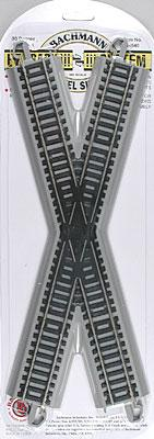 Bachmann 30 Degree Crossing N/S E-Z Track HO Scale Nickel Silver Model Train Track #44540