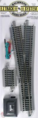 Bachmann #5 Wye Switch N/S E-Z HO Scale Nickel Silver Model Train Track #44569