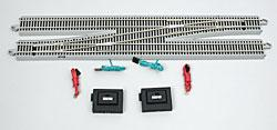 Bachmann #6 Remote Switch LH N/S E-Z Track -- HO Scale Nickel Silver Model Train Track -- #44575