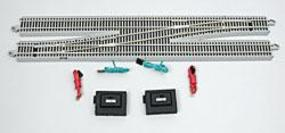 Bachmann #6 Remote Switch LH N/S E-Z Track HO Scale Nickel Silver Model Train Track #44575