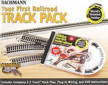 Bachmann 4x8' Hobby Track Pack w/DVD -- HO Scale Nickel Silver Model Train Track -- #44596