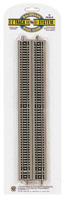 Bachmann 10 Inch Straight N/S (6) N Scale Nickel Silver Model Train Track #44815