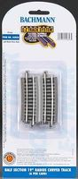 Bachmann E-Z Half Section 19 Radius Curve NS (6) N Scale Nickel Silver Model Train Track #44856