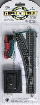 Bachmann Remote Switch LH N/S E-Z N Scale Nickel Silver Model Train Track #44861