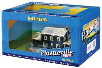 Bachmann House Under Construction Built-Up -- HO Scale Model Railroad Building -- #45004
