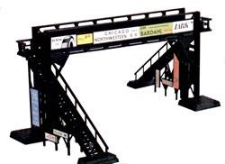 Bachmann Pedestrian Bridge Snap Kit -- HO Scale Model Railroad Bridge -- #45172