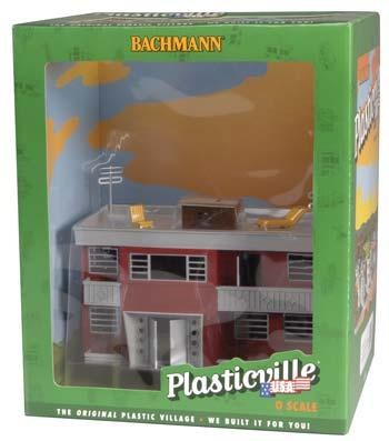 Bachmann Built-Up Buildings - Apartment Building O Scale Model Railroad Building #45315