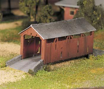 Bachmann Covered Bridge Built-Up O Scale Model Railroad Building #45317