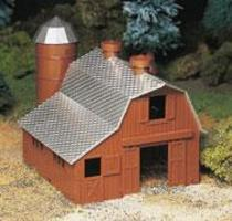 Bachmann Dairy Barn Kit O Scale Model Railroad Building #45602