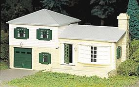 Bachmann Two Story Split Level House Kit O Scale Model Railroad Building #45607