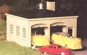 Fire House w/Vehicles Kit O Scale Model Railroad Building #45610