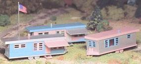 Bachmann Trailer Park w/Accys Kit O Scale Model Railroad Building #45612