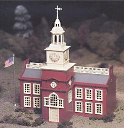 Bachmann Town Hall Snap Kit -- O Scale Model Railroad Building -- #45614