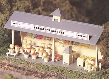 Bachmann Roadside Stand Kit -- O Scale Model Railroad Building -- #45621