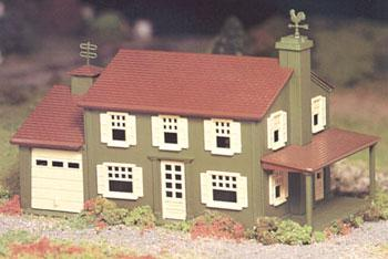 Bachmann Two Story House Snap Kit -- O Scale Model Railroad Building -- #45622