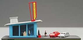 Bachmann Drive-In Hamburger Stand Built Up N Scale Model Railroad Building #45709