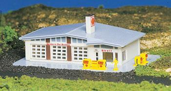 Bachmann Gas Station Built-Up N Scale Model Railroad Building #45904