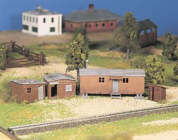 Bachmann Hobo Jungle Kit (4) -- O Scale Model Railroad Building -- #45983