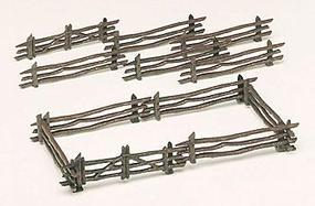 Bachmann Rustic Fence Kit (12) O Scale Model Railroad Trackside Accessory #45984