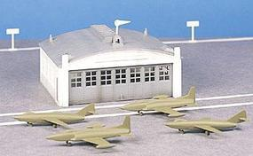 Bachmann Airport Hanger w/Plane Kit O Scale Model Railroad Building #45986