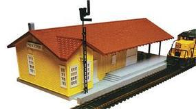 Bachmann Grovemont Freight Station Kit Lighted HO Scale Model Railroad Building #46216