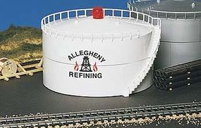 Bachmann Oil Storage Tank w/Light Allegheny Oil HO Scale Model Railroad Trackside Accessory #46219